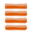 orange glass buttons shiny rectangle 3d icons vector image vector image