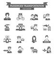 Passenger Transportation Icon vector image vector image
