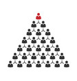 people pyramid with team leader business career vector image