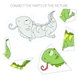 Puzzle game for children iguana vector image vector image