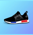 realistic sport running shoe for training vector image
