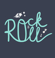Rock and Roll Lettering vector image vector image