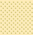 seamless pattern with yellow circles and shadows vector image vector image