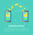 sending money concept cartoon style vector image