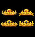set app icons golden crowns awards with vector image