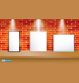 set of realistic blank photo frame on table vector image