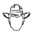 silhouette man cowboy wear hat image vector image vector image