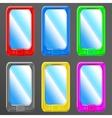 smartphone set vector image vector image