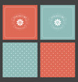 spring typographic posters or greeting vector image vector image