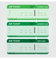 Three Classes Boarding Pass Green Tint vector image