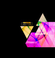 triangle shape colors on a black vector image vector image