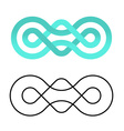 unity community knot design template vector image vector image