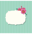 Vintage Label With Sakura Flowers vector image vector image