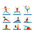 yoga exercise fitness therapy healthy stretch vector image
