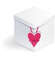 Box with heart vector image