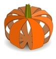 Abstract applique pumpkin on Halloween vector image