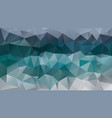 abstract irregular polygonal background blue green vector image vector image