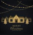 amazing merry christmas seasonal greeting with vector image