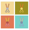 assembly flat icons kids toy scissors vector image vector image