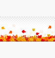 autumn nature panorama with colorful leaves vector image vector image