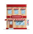 barbershop building vector image vector image