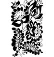 Black and white flowers and leaves vector image