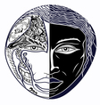 black and white mask vector image vector image