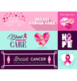 Breast cancer awareness campaign graphic elements vector image vector image