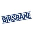 brisbane blue square stamp vector image vector image