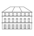 building icon outline style vector image vector image