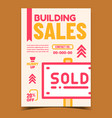 building sales creative advertising poster vector image vector image