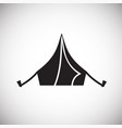 camping tent icon on white background for graphic vector image vector image