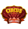 carnival circus banner with big top vector image vector image