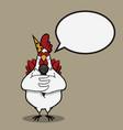 cartoon funny chicken vector image vector image