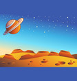 cartoon red planet landscape vector image