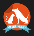 cat and dog design vector image vector image