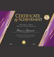 certificate retro design template 06 vector image vector image