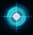 circle blue abstract technology innovation vector image vector image