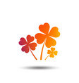 clovers with four leaves sign st patrick symbol vector image vector image