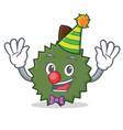 clown durian mascot cartoon style vector image vector image