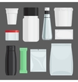 Cosmetics containers set vector image