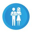 couple pictogram cartoon vector image