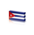 cuba flag on a white vector image vector image