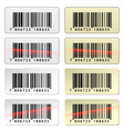 EAN barcode stickers vector image