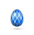 easter egg 3d icon blue color egg isolated white vector image