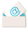 envelope with email symbol vector image vector image