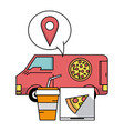 fast food order and delivery online vector image vector image
