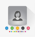 female customer service icon sign symbol app vector image vector image