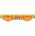 festival marigold garland decoration for door vector image vector image