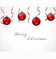 festive design with red christmas tree decoration vector image vector image